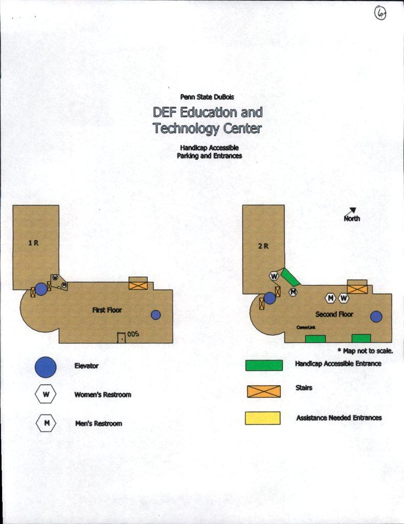 Accessibility Maps, DEF Building