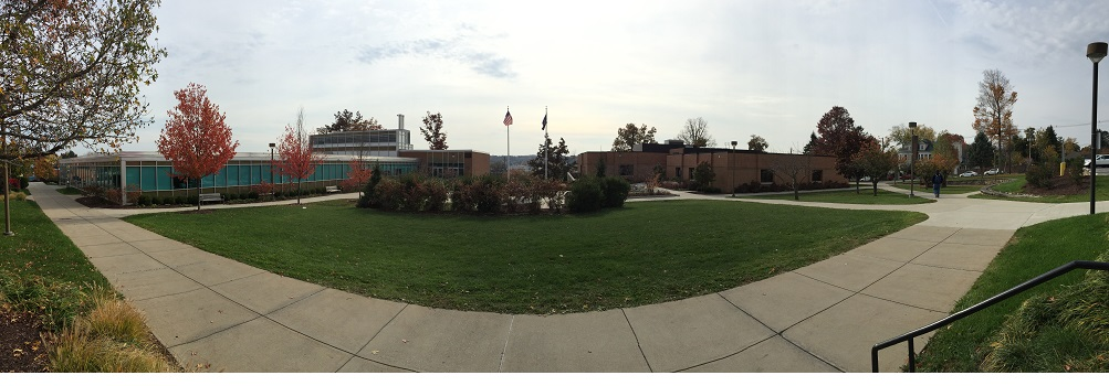 panoramic photo of campus