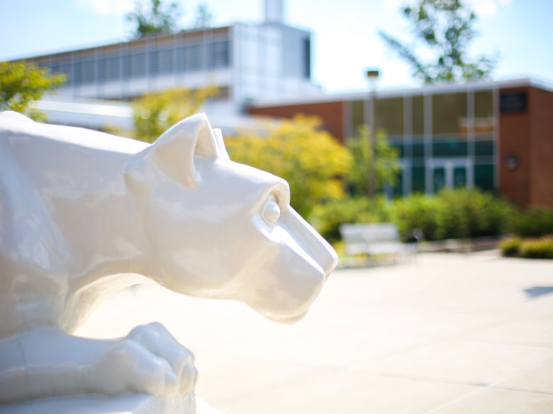 picture of Nittany Lion shrine on DuBois campus