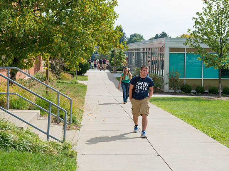 beautiful campus picture of Penn State DuBois