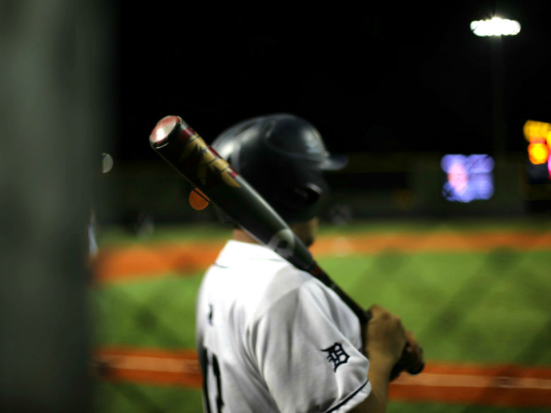 picture of DuBois baseball player standing in on-deck circle