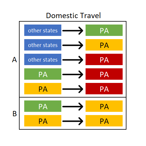 Domestic Travel Graphic During COVID-19