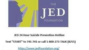 JED 24 Hour Suicide Prevention Hotline