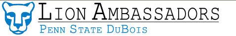 lion ambassador logo for penn state dubois