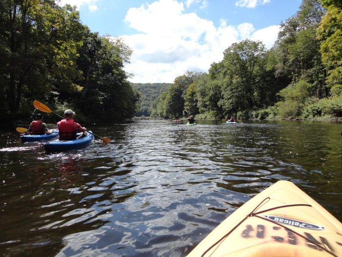 Penn State DuBois wildlife students kayaking