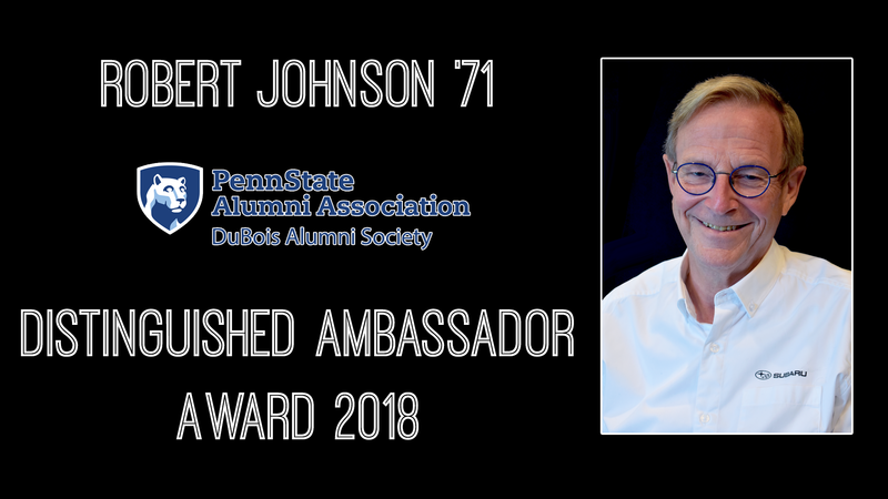 Robert Johnson 2018 Distinguished Ambassador