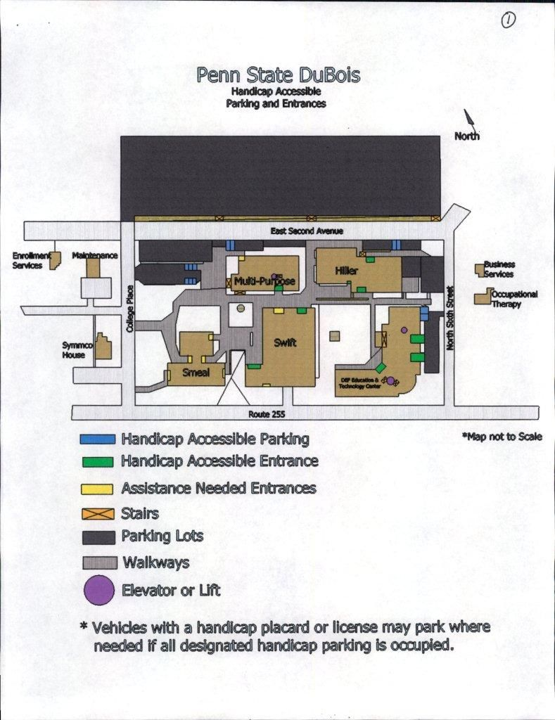 Accessibility Maps, Parking and Entrances