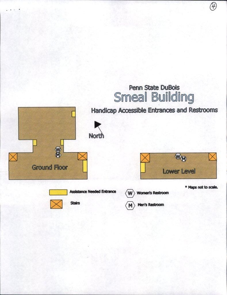Accessibility Maps, Smeal Building