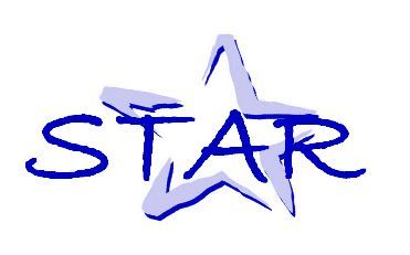 Logo of STAR, Purple star with the words STAR in the center