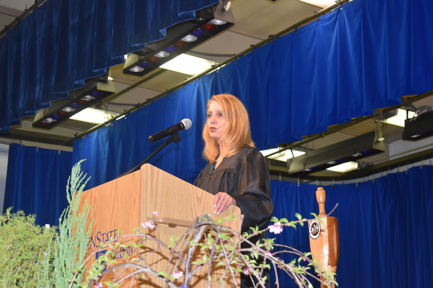 Joyce Fairman offered the commencement address on Friday evening at Penn State DuBois.