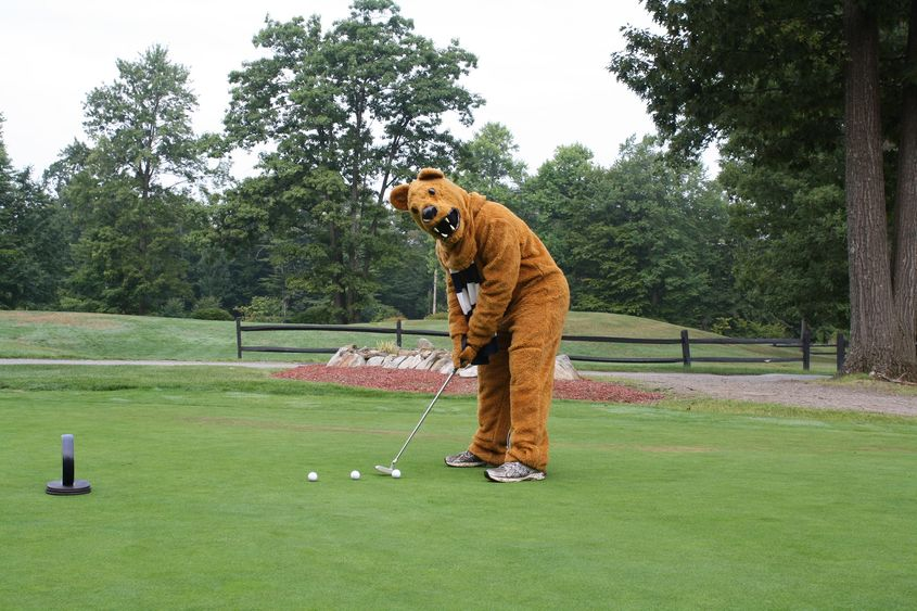 The Nittany Lion on the golf course.